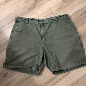 Carhartt canvas cell work short duck green 40